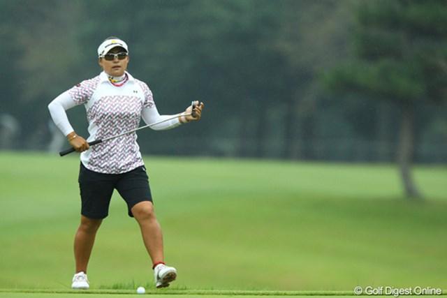 2009年 日本女子オープン 2日目 馬場ゆかり 最近は本当に安定したゴルフで、常に上位でプレーしてます。今季トップ10フィニッシュが8回。後は優勝するだけです。