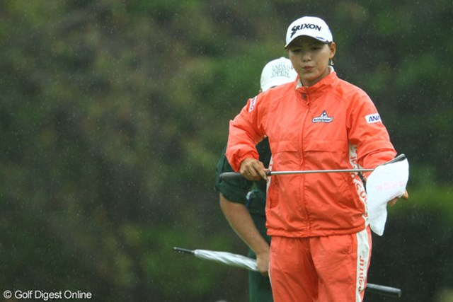2009年 日本女子オープン3日目 横峯さくら 5位転落の横峯。逆転優勝に向けては、ビッグスコアが必要だ