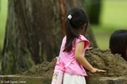 2009年 日本女子オープン3日目 ギャラリーの子供