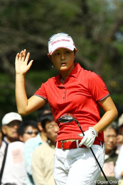 2009年 日本女子オープン最終日 諸見里しのぶ 単独4位で稼いだ賞金は700万円。満足感漂う諸見里しのぶ