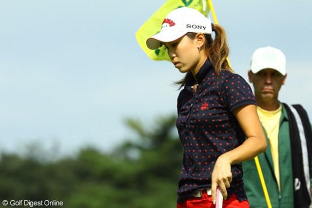 2009年 日本女子オープン最終日 上田桃子 悔しさが滲んだ最終日。練習で乗り越えるしかない