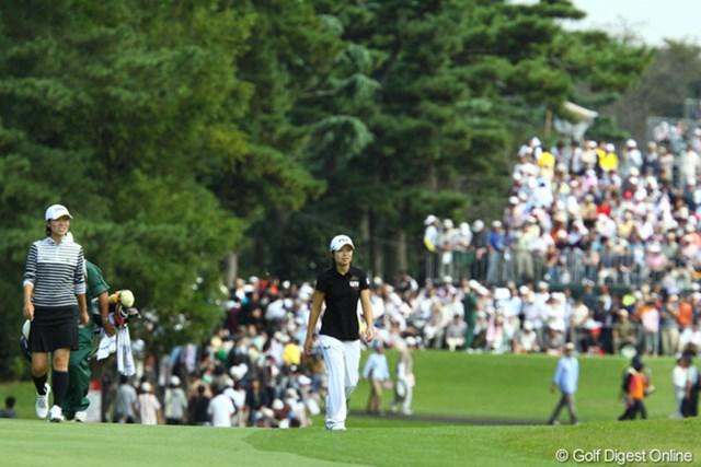 2009年 日本女子オープン最終日 チ・ウンヒ&李知姫 4日間仲良く一緒にラウンドしました。