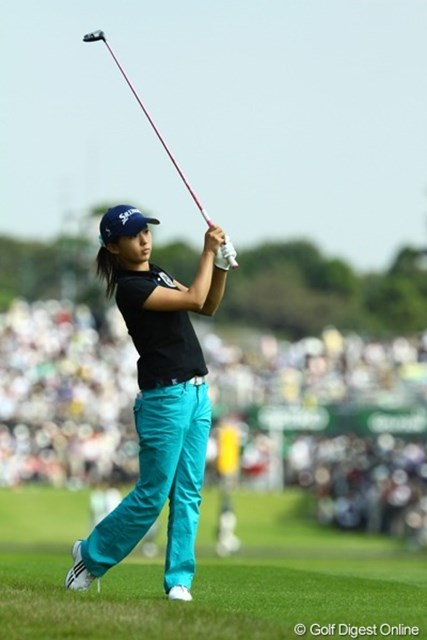 2009年 日本女子オープン最終日 森美穂 最終日、2アンダーでラウンドするものの、3打差で惜しくもベストアマに届かず。