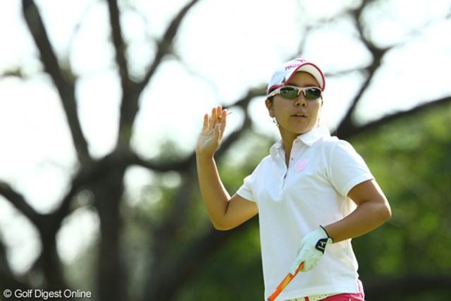 昨日までのゴルフとは一転、ノーバーディに終わった宮里美香