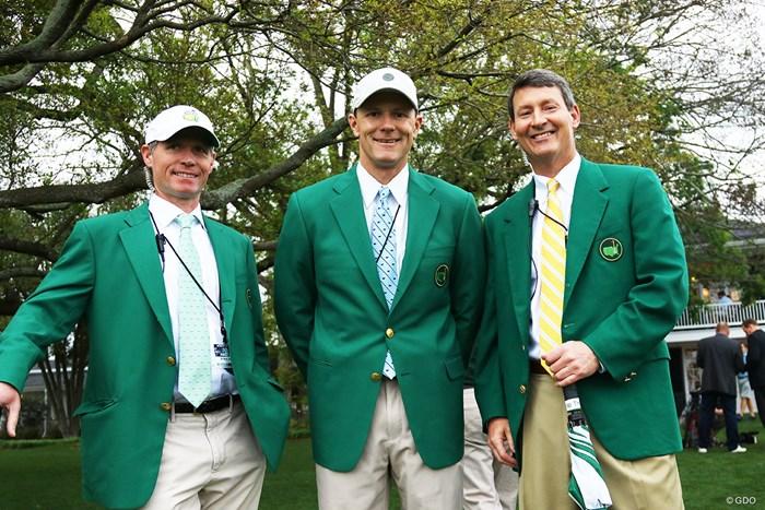 最後はやっぱり…グリーンジャケットを着たオーガスタナショナルGCのメンバーさん。ネクタイにもクラブのマークが入ってます 2017年 マスターズ 事前 オーガスタナショナルGCメンバー