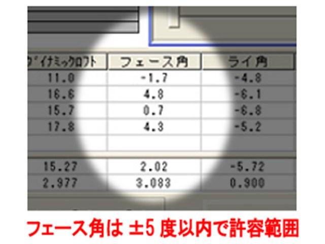 増井さんフェース角