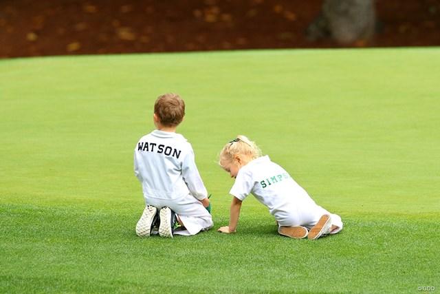 2017年 マスターズ 事前 パー3コンテスト ウェブ・シンプソンとバッバ・ワトソンの子ども ワトソンの長男とシンプソンの長女、すんごいゴルフエリートな幼っ馴染みカップル!