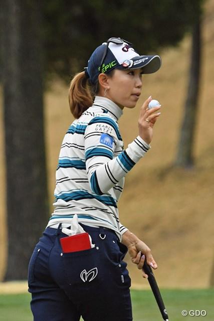 今季初めて60台で滑り出した上田桃子。調子を上げて次週・熊本大会に乗り込みたい