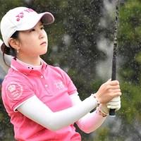 22歳の石田可南子はデビュー戦で首位発進した(大会提供) 2017年 Hanasaka Ladies Yanmar Golf Tournament 初日 石田可南子