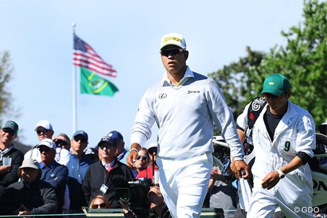 こんなに星条旗とオーガスタナショナルGCのフラッグが似合う日本人ゴルファーはいなかった