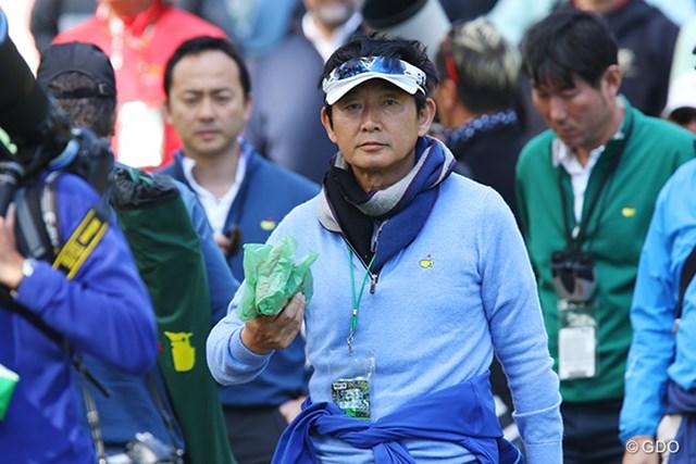 ゴルフ好きで知られる俳優さん、観戦に来てました。