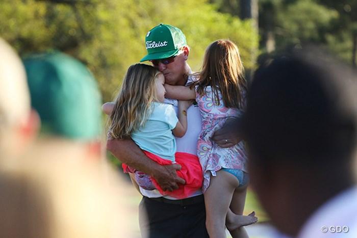 勝てずとも待っていてくれる家族がいるとすべての疲れが癒される 2017年 マスターズ 最終日 チャーリー・ホフマン