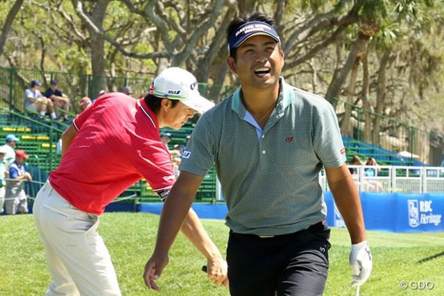 池田勇太は大会当週の月曜日、火曜日に石川遼と練習ラウンド。リラックスムードの中にも真剣さが漂った