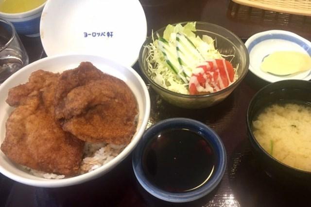 福井市内にあるヨーロッパ軒のソースカツ丼。僕の青春の味です