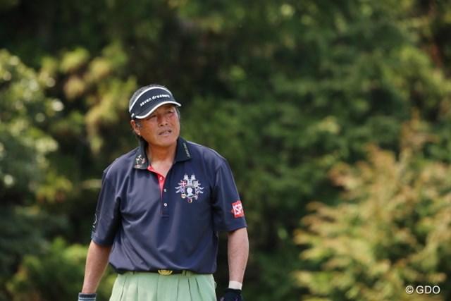 117位で初日を終えた尾崎将司。ミスによる自滅を悔しがった