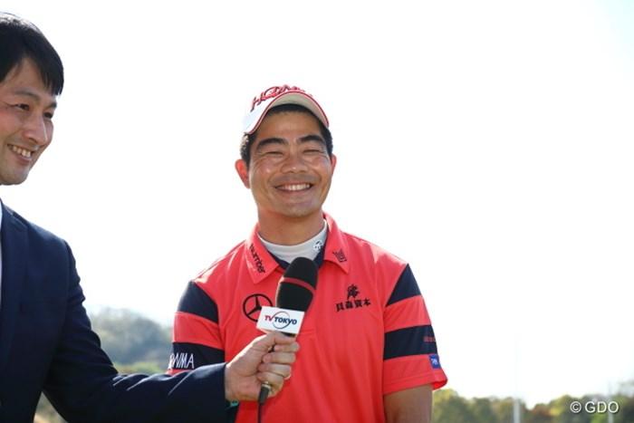 通訳の人が超テキトウだった。それにしても素敵な笑顔。 2017年 東建ホームメイトカップ 最終日 梁津萬