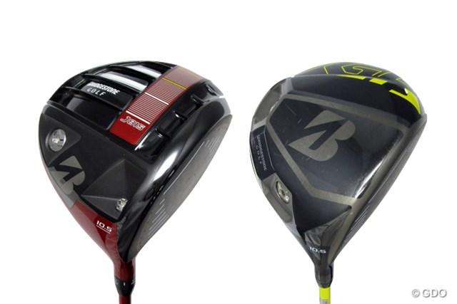 プロ使用モデルながら、ボールが上がりやすくつかまるブリヂストンJ815 ドライバー(左)とJGR ドライバー(右)