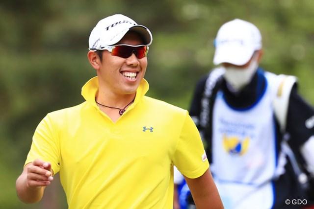 2017年 パナソニックオープンゴルフチャンピオンシップ 3日目 堀川未来夢 サングラスしてても嬉しさは隠せないね