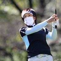 この日は1日マスク姿でラウンドし3位タイの大場美智恵 2009年 SANKYOレディースオープン初日 大場美智恵