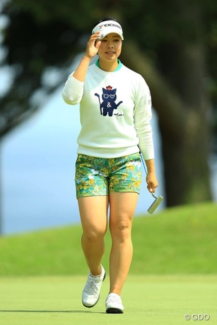 2017年 九州みらい建設グループレディースゴルフトーナメント 初日 森田理香子 9年ぶりに下部ステップアップツアーに出場している森田理香子(撮影は2017年フジサンケイレディス)