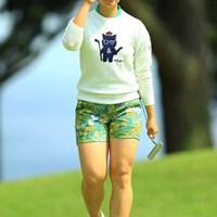 9年ぶりに下部ステップアップツアーに出場している森田理香子(撮影は2017年フジサンケイレディス) 2017年 九州みらい建設グループレディースゴルフトーナメント 初日 森田理香子