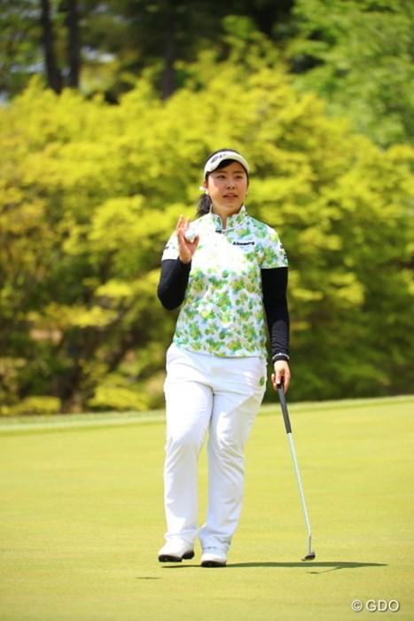 ほとんどOKバーディでした。 2017年 サイバーエージェント レディスゴルフトーナメント 初日 武尾咲希
