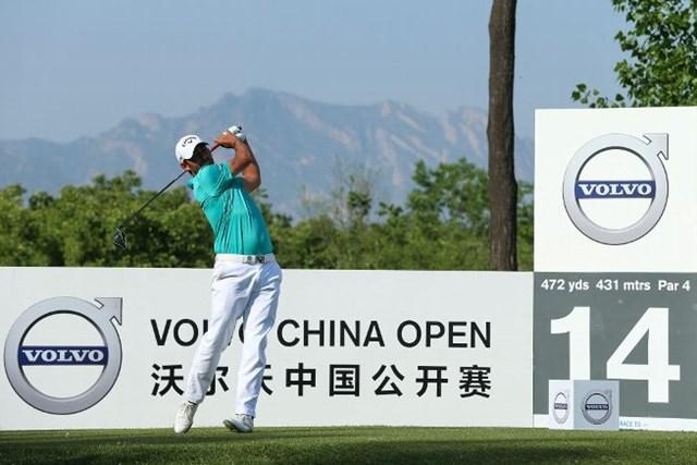 2017年 ボルボ中国オープン 2日目 パブロ・ララサバル 2日目を終えてトップに立ったパブロ・ララサバル(Lintao Zhang/Getty Images)