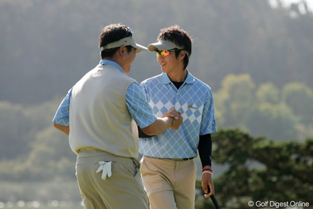 プレジデンツカップ2日目/石川遼&ヤン 頼れる兄と弟のようなコンビとなったY.E.ヤンと石川遼