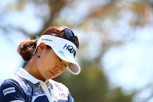 2017年 サイバーエージェント レディスゴルフトーナメント 2日目 木戸愛 ガックシの正しい図。