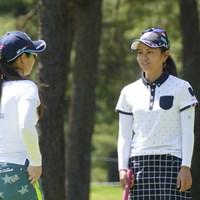 火曜日は仲の良い横山倫子と練習ラウンドを行った宮里藍 2017年 ワールドレディス選手権 サロンパスカップ 事前 宮里藍