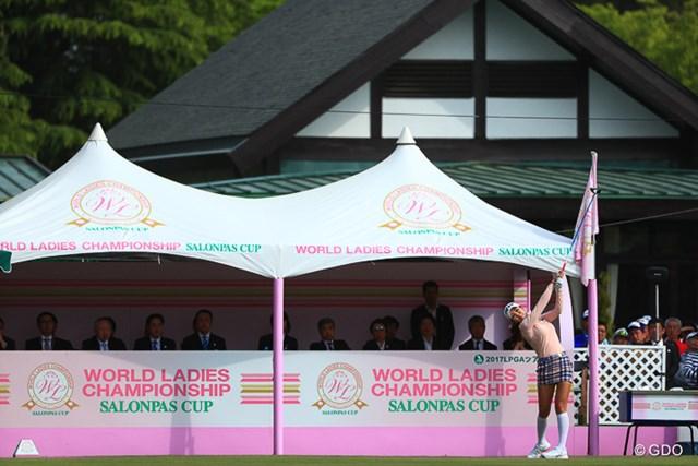 2017年 ワールドレディス選手権 サロンパスカップ 最終日 アン・シネ アンシネがスタートしたよ!
