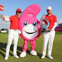 新たな試みとなった「ゴルフシックス」の初代勝者はデンマークとなった(Andrew Redington/Getty Images) 2017年 ゴルフシックス 最終日 トービヨン・オルセン ルーカス・ビェルレガード