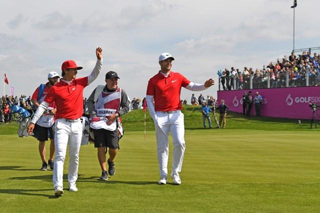 新たな試みが盛り込まれた今大会。優勝したデンマークを含め、多くの選手が競技を楽しんだようだ(Ross Kinnaird/Getty Images)