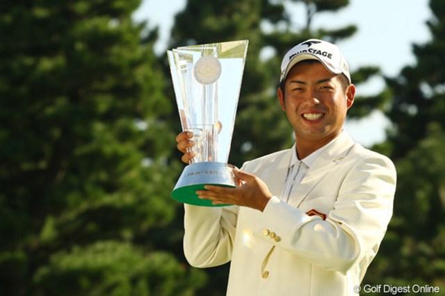 鮮やかな逆転勝利で今季3勝目を飾った池田勇太。今季1億円を突破し、石川遼との差が約200万円に詰め寄った