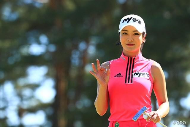 2017年 ほけんの窓口レディース アン・シネ 次に日本で会えるの1カ月後。アン・シネはファンが帰国を待つ韓国ツアーに戻る ※撮影は「 ワールドレディス選手権 サロンパスカップ」