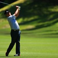14番セカンド。結果はいかに? 2017年 関西オープンゴルフ選手権競技 初日 岩本高志