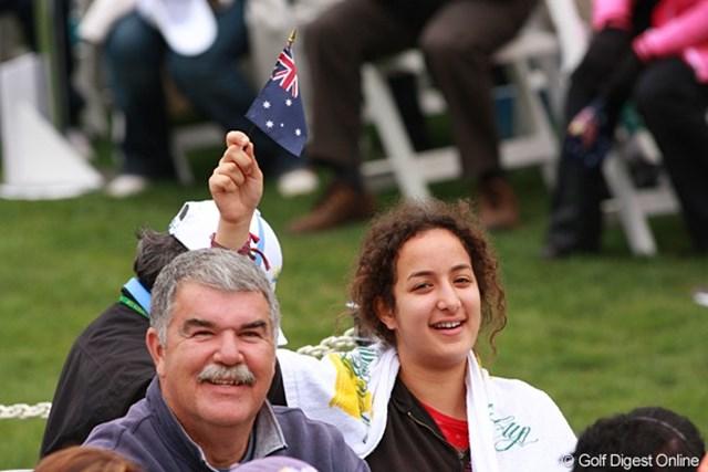 2009年 ザ・プレジデンツカップ最終日 ギャラリー 2011年の大会はオーストラリアで開催。「次回はもっと陽が照って暖かいよ」というノーマンのスピーチは会場の笑いを誘った