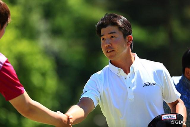 2017年 関西オープンゴルフ選手権競技 2日目 小野田享也 「65」をマークし首位タイに浮上した小野田享也