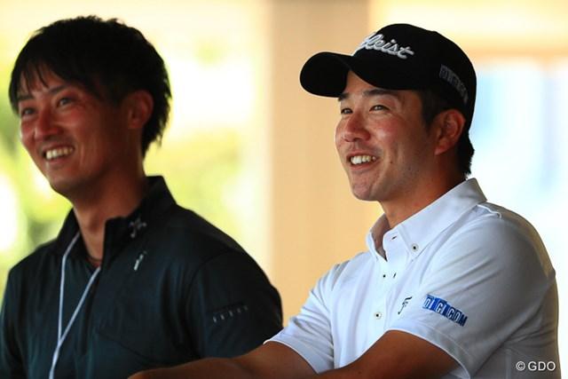 2017年 関西オープンゴルフ選手権競技 2日目 小野田享也 この日ベストの6アンダー「65」で首位に立った小野田享也