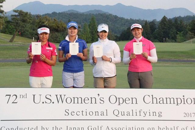 サイ・ペイイン、森田遥、葭葉ルミ、川岸史果の4選手が本戦出場権を獲得した(提供:日本ゴルフ協会)
