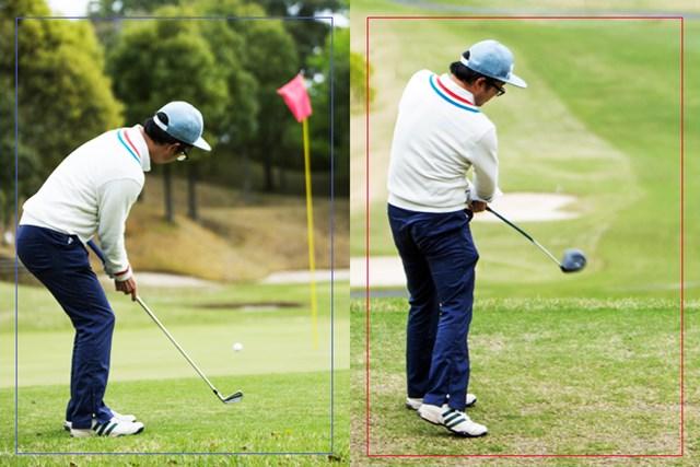 ロイヤルスターゴルフクラブ NEW、INコースにて実施 (画像左:2本のみ、右:14本セット)
