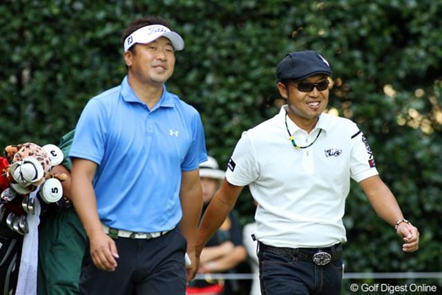 2009年 日本オープンゴルフ選手権競技 初日 片山晋呉 パープレーで初日を終えた片山晋呉、それでも余裕の微笑み?!ホールアウト後練習グリーンへ直行した