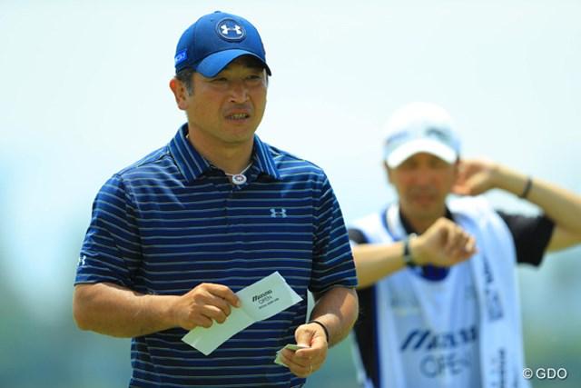 6位発進を決めた増田伸洋。ようやく14本のクラブが固まりつつある