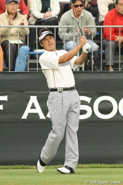 2009年 日本オープンゴルフ選手権競技 初日 野仲茂 初出場の日本オープンでトップタイでスタートした野仲茂。ギャラリーの多さにビックリしたそうです