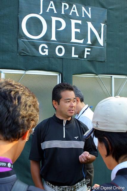 2009年 日本オープンゴルフ選手権競技 初日 日置豊一 最終ホール(9番ショートホール)でなんとホールインワンを出し3位タイに飛び込んできた日置豊一