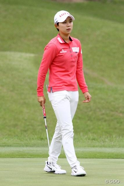 2017年 ヨネックスレディスゴルフトーナメント 事前 キム・ヒョージュ 大会初出場のキム・ヒョージュ。狙うはもちろんホステス優勝だ