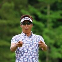 久しぶりに会ったからってそんなに興奮しなくても。 2017年 日本ツアー選手権 森ビル杯 Shishido Hills 初日 ジェイ・チョイ