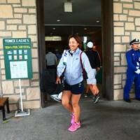 今日はコースに出ていないホステスプロ 2017年 ヨネックスレディスゴルフトーナメント 初日 若林舞衣子