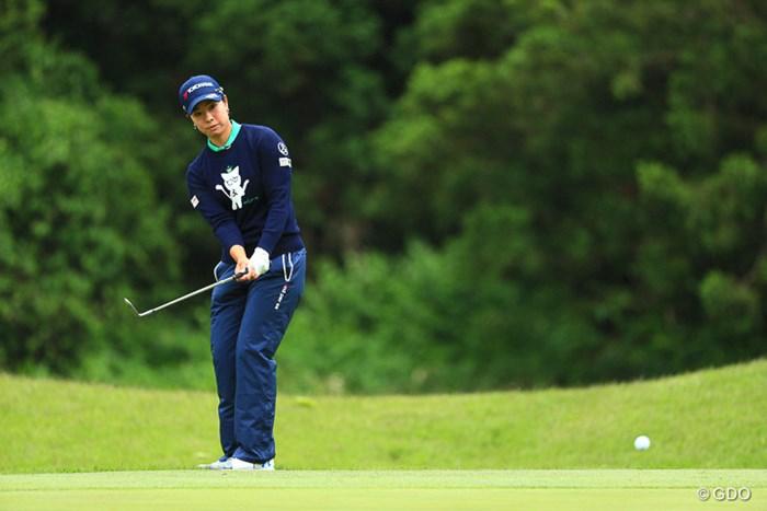 要所では小技も冴え、3季ぶりのタイトルを圏内に捕らえた森田理香子 2017年 ヨネックスレディスゴルフトーナメント 2日目 森田理香子