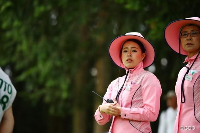 2017年 日本ツアー選手権 森ビル杯 Shishido Hills 3日目 フォアキャディ 今日もホホ紅は濃い目。